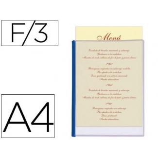 Porta menus Liderpapel pvc tamaño A4 con 3 fundas