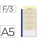 Porta menus Liderpapel pvc tamaño A5 con 3 fundas