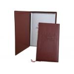 Porta menus polipiel color marron carta de menu y vinos