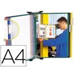 Portacatalogo de pared metálico Tarifold con 10 fundas tamaño A4 colores surtidos