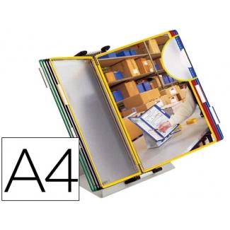 Portacatalogo sobremesa pvc Tarifold con 10 fundas tamaño A4 colores surtidos
