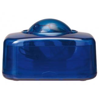 Portaclips Q-connect con bola dispensadora giratoria plástico color azul