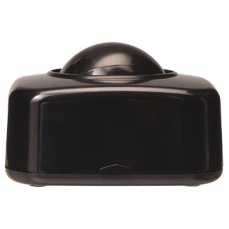 Portaclips Q-connect con bola dispensadora giratoria plástico color negro