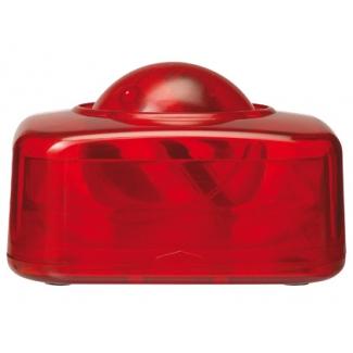 Portaclips Q-connect con bola dispensadora giratoria plástico color rojo