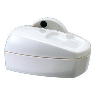 Portaclips Q-connect con rueda magnética giratoria plástico color blanco