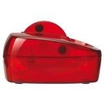 Portaclips Q-connect con rueda magnética giratoria plástico color rojo