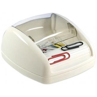 Portaclips Q-connect imantado con rodillo con 30 clips de colores color negro