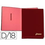 Pardo 87505 - Portafirmas, 18 departamentos, color burdeos