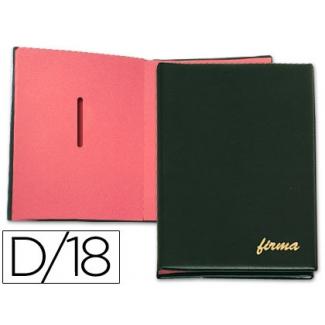 Pardo 87501 - Portafirmas, 18 departamentos, color negro