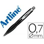 Portaminas Artline retractil sujeción de caucho translúcido 0.7 mm cuerpo color negro