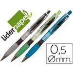 Portaminas Liderpapel 0.5 mm con goma y sujeción soft colores surtidos