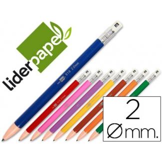 Liderpapel MI02 - Portaminas 2 mm, colores surtidos
