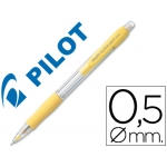 Portaminas Pilot super grip color amarillo 0,5 mm sujeción de caucho