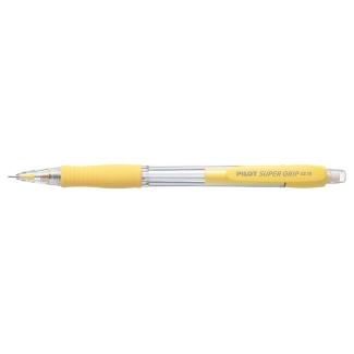 Pilot Super Grip - Portaminas 0,5 mm, sujeción de caucho, color amarillo