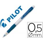 Portaminas Pilot super grip color azul 0,5 mm sujeción de caucho