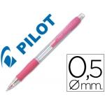 Portaminas Pilot super grip color rosa 0,5 mm sujeción de caucho