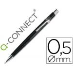 Portaminas Q-Connect 0,5 mm con tres minas cuerpo color negro clip metálico
