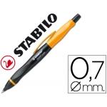 Portaminas Stabilo smartgraph 0,7 mm HB cuerpo color negro y naranja