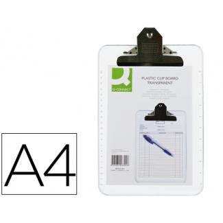 Portanotas Q-connect plástico transparente tamaño A4