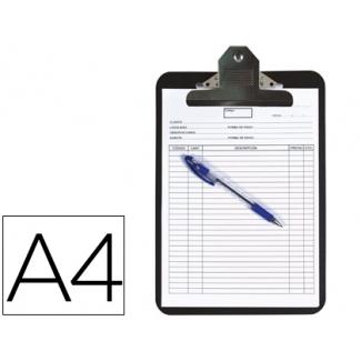 Portanotas Q-connect polipropileno color negro tamaño A4