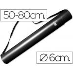 Portaplanos plástico Liderpapel diámetro de 6 cm extensible hasta 80 color negro