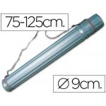 Portaplanos plástico Liderpapel diámetro de 9 cm extensible hasta 125 cm color gris