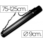 Portaplanos plástico Liderpapel diámetro de 9 cm extensible hasta 125 cm color negro