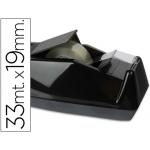Portarrollo Q-Connect sobremesa plástico color negro para cintas de 33 mt