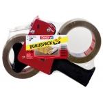 Portarrollo Tesa para embalaje para rollos de 66 mt x 50 mm 2 rollos cinta color marron
