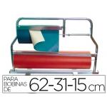 Portarrollo mostrador corta papel cromado para bobinas 62-31-15 cm