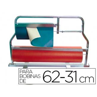 Portarrollo mostrador corta papel pintado para bobinas de 62-31 cm