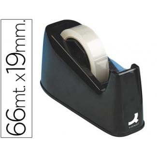 Q-Connect KF11010 - Portarrollo sobremesa, para cintas de 33 mt y 66 mt, negro
