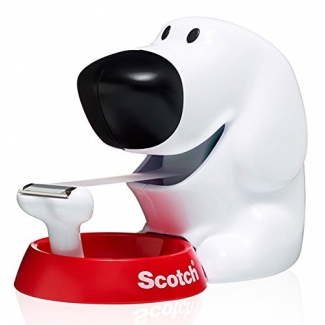 Scotch C31 - Portarrollo sobremesa doggy, incluye cinta de 19 mm x 8,9 mt