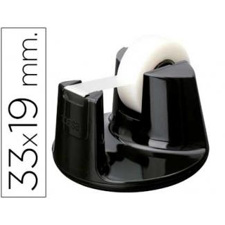 Tesa 53828-00000-00 - Portarrollo sobremesa, para cintas de 33 mt, negro