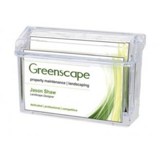 Portatarjeta de visita archivo capacidad maxima 50 tarjetas en plástico transparente 38x108x73 mm