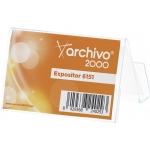 Portatarjeta de visita de sobremesa archivo en plástico transperente 65x90x60 mm