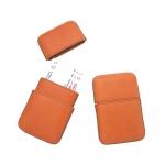 Portatarjetas de visita artesanía de piel medida 10,5x6,5 cm