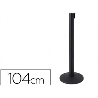 Poste de plástico con cinta retractil poste de 104 cm cinta de 2 mt base poste 36 cm de diámetro