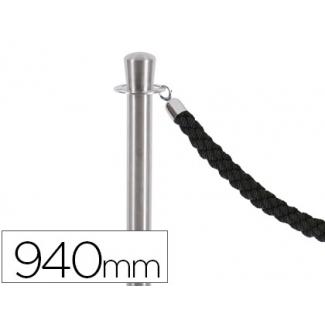 Poste separador cromado satinado altura 940 mm base 320 mm