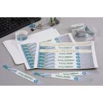 Pulsera identificativa Avery polietileno imprimible láser 265x25 mm color blanco pack de 48 unidades