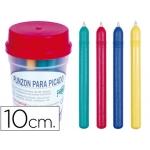 Punzon plástico de color con punta de acero latonado