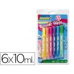 Purpurina pegamento Imedio glitter colores surtidos pastel blister de 6