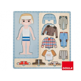 Puzzle Diset 10 piezas vestir niño