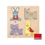 Puzzle Diset 4 piezas mamas y bebes