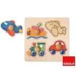Puzzle Diset 4 piezas vehículos