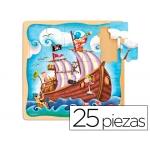 Puzzle Diset barco pirata 25 piezas