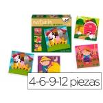Puzzle Diset color infantil naturin granja