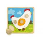 Puzzle Diset de madera gallina