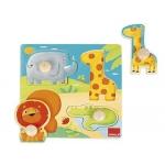 Puzzle Goula animales selva 4 piezas
