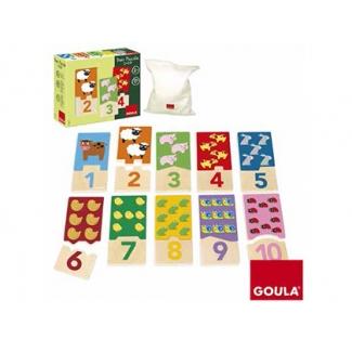 Puzzle Goula color infantil duo 1-10